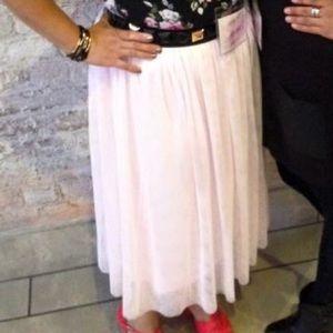 Tulle Skirts - Light Pink Midi Tulle Skirt